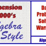Algebra By Style- Daily Problem Solving Warmups