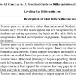 Leveling UP Differentiation