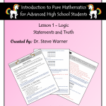 Introduction to Pure Mathematics – Lesson 1 – Logic – Statements and Truth