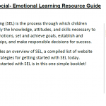 Social Emotional Learning Resource Guide